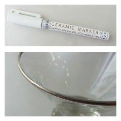 日本金液 ガラス用セラミックマーカー(プラチナ)                   ※注意!陶磁器には使えません