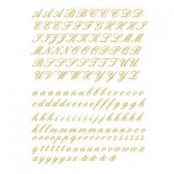 数量限定【転写紙】アルファベットA筆記体(ゴールド)Sサイズ 2枚セット(陶磁器用)