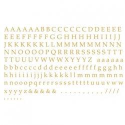 数量限定【転写紙】アルファベットB明朝体(ゴールド)SSサイズ(陶磁器用)