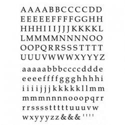 数量限定【転写紙】アルファベットB明朝体ブラック Sサイズ 2枚セット(陶磁器用)