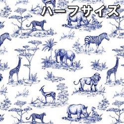 数量限定【転写紙】サファリチンツ(ブルー) ハーフ(陶磁器用)