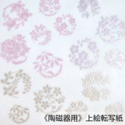 【和風盛り転写】花丸小紋 其の弐 (陶磁器用)