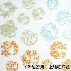 【和風盛り転写】花丸小紋 其の壱 (陶磁器用)