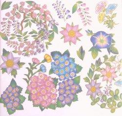 【和風盛り転写】花丸 夏 (陶磁器用)