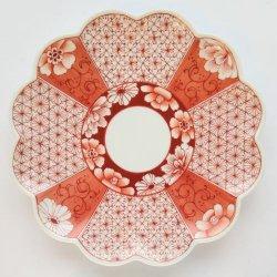 【講座サンプル作品】番号99_赤絵小紋菊皿 ※作品以外の通常商品を一緒にカートに入れると「利用できるお届け方法がない」と表示されます。作品以外の商品を削除して決済して下さい。