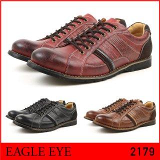 EAGLE EYE/イーグル アイ 2179 メンズ アンティーク加工カジュアルシューズ BLACK BROWN WINE ブラック ブラウン ワイン