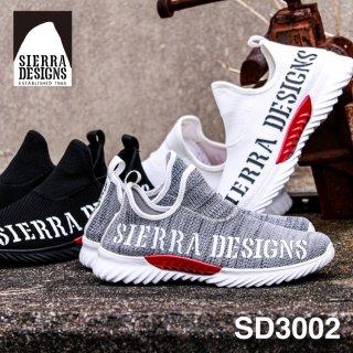 SIERRA DESIGNS シエラデザインズ SD3002 ニット スニーカー メンズ ブランド スリッポン セメント製法 ラバー 軽量 屈曲 通気 伸縮性 ロゴ ビッグロゴ