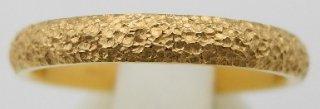 純金鍛造リング 平甲丸 テクスチャー�  幅3.0mm ※表記価格は最大サイズの場合の価格です。