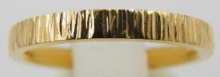 純金鍛造リング 平打ち テクスチャー�  幅2.5mm ※表記価格は最大サイズの場合の価格です。