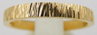 純金鍛造リング 平打ち テクスチャー�  幅3.0mm ※表記価格は最大サイズの場合の価格です。