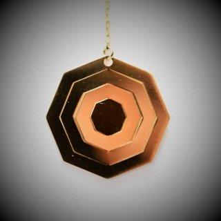 18金製 ホログラムピアス 八角形