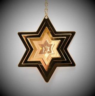 18金製 ホログラムピアス 六芒星型