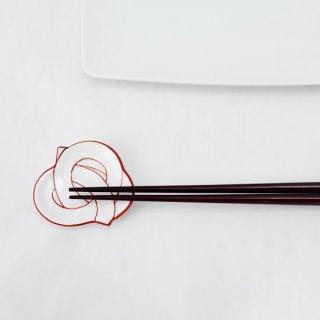 結び箸置き 赤