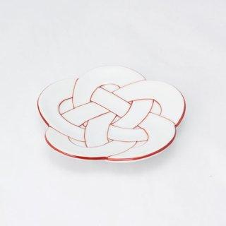 梅結び小皿 赤