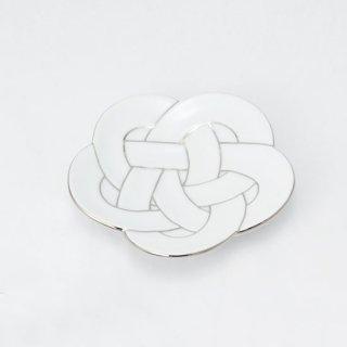 梅結び小皿 プラチナ
