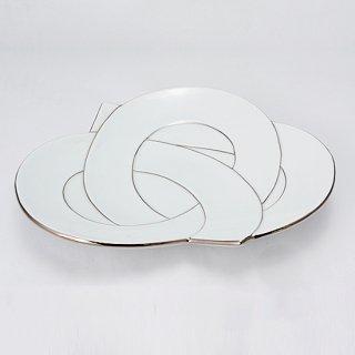 結び皿 プラチナ