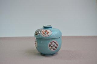 青磁丸紋 ひさご型蒸し碗