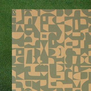 ピクニックラグ パターン ブルー