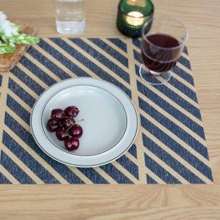 テーブルマット ストライプ ネイビー&ブルーグレー