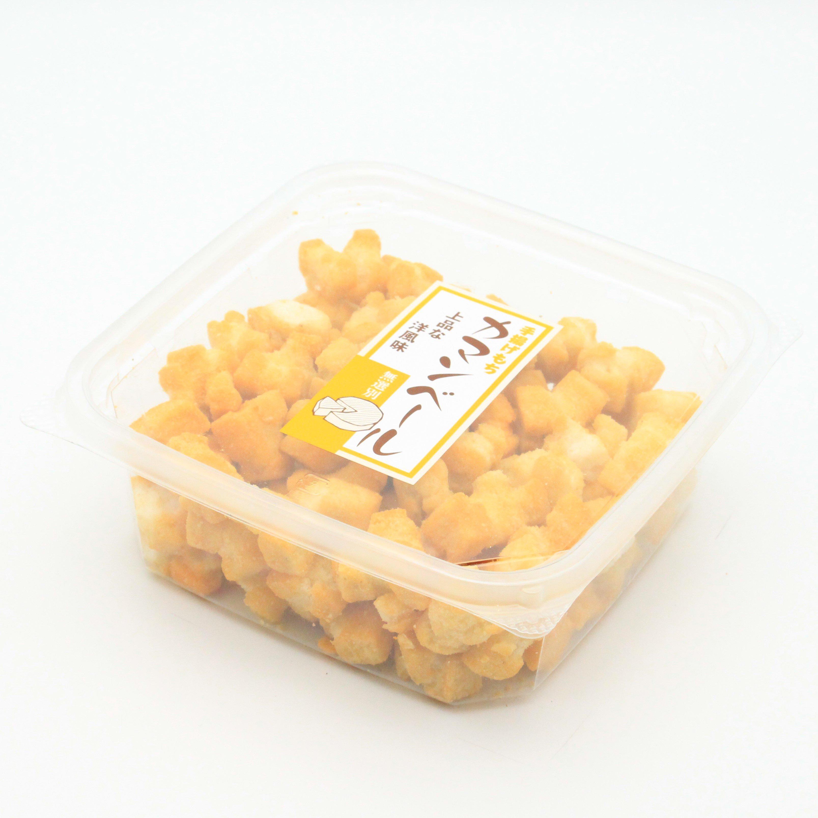 七越製菓/手揚げ餅(大粒)  カマンベールチーズ(カップ) 220g