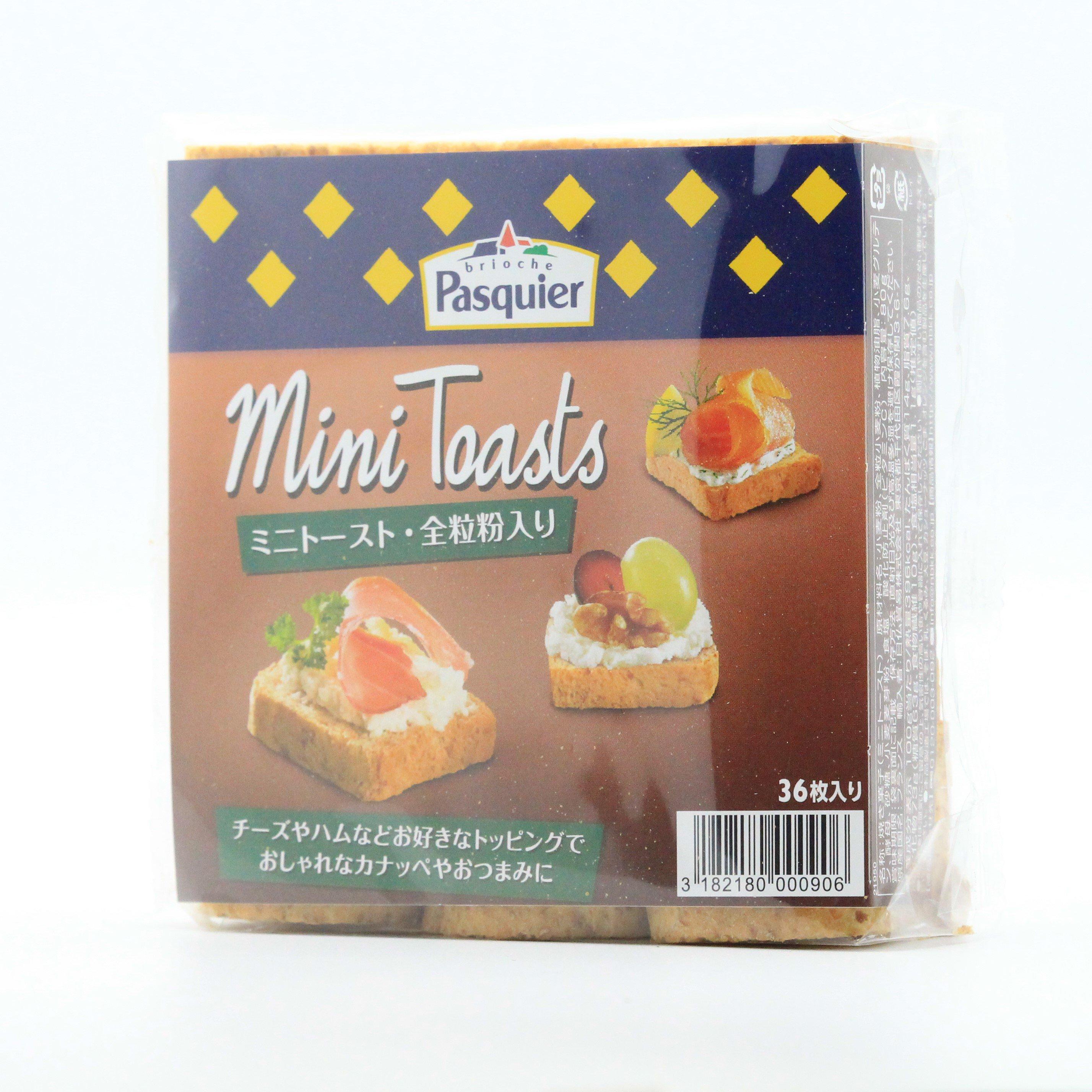 ブリオッシュ・パスキエ/ミニ・トースト(全粒粉入り)80g・36枚入り