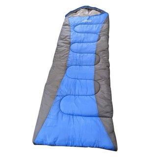 寝袋 封筒型 シュラフ 洗える 限界温度-15℃ コンパクトサイズ キャンプ アウトドア オールシーズン 春 夏 秋 冬 LandField LF-SR010-BLGY