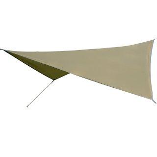 ひし形タープテント ウィングタープ 510×402cm 耐水圧1500mm 2〜5人用サイズ LandField LF-RT050-KH
