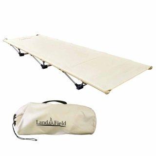 冷気や熱をシャットアウト アウトドア ローコット キャンピングべッド LandField LF-LC010-BE