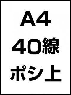 A4・40線・ポシ・膜面上の商品画像