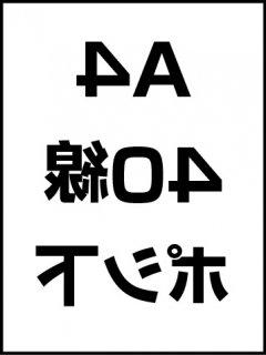 A4・40線・ポシ・膜面下の商品画像