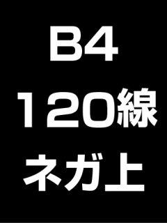 B4・120線・ネガ・膜面上の商品画像
