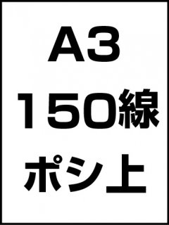 A3・150線・ポシ・膜面上の商品画像