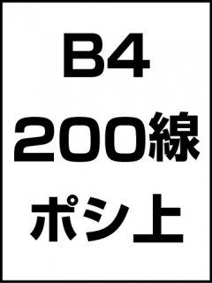 B4・200線・ポシ・膜面上の商品画像