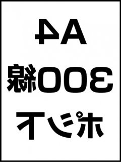 A4・300線・ポシ・膜面下の商品画像