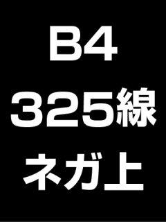 B4・325線・ネガ・膜面上の商品画像