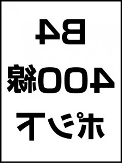 B4・400線・ポシ・膜面下の商品画像