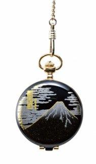 日本伝統技法・蒔絵【MADE IN JAPAN】MAKI-E Pocket Watch /蒔絵 懐中時計 桐箱入り 富士山