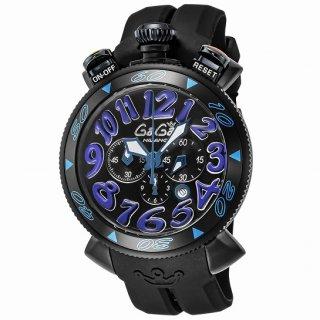 GaGa Milano ガガ ミラノ CHRONO 48MM 6054.1-BLK RUBBER メンズ腕時計