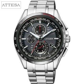 CITIZEN ATTESA腕時計 AT8144-51E エコドライブワールドタイム電波時計 メンズウォッチ