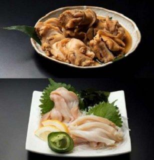 純粋知床産 刺身つぶ+つぶの柔らか煮セット