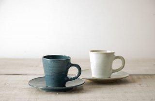 越中三助焼 コーヒーカップ&ソーサー