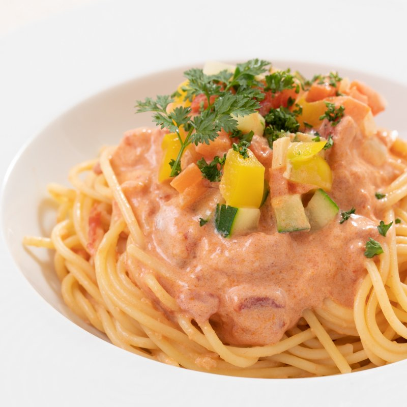 野菜党必見!7種野菜のトマトクリームパスタソースの商品画像