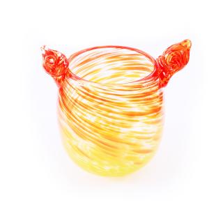 沖縄伝統工芸品コラボ 琉球ガラス 獅子丸ほむら