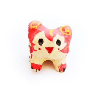 沖縄伝統工芸品コラボ 開運シーサー 獅子丸ほむら