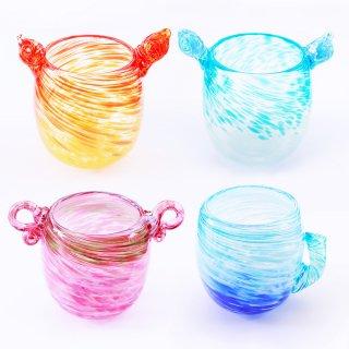 沖縄伝統工芸品コラボ 琉球ガラス 4人コンプセット