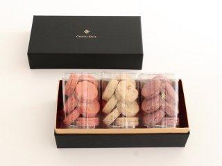 ローズクッキー 3種各1セット (ギフトボックス入り・ロゴ入り手提げ紙袋付き)