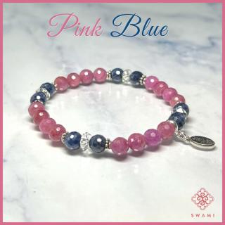 SWAMI スワミ ブレスレット ピンク/ブルーサファイア 【特別価格】