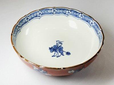 赤濃唐子 菓子鉢