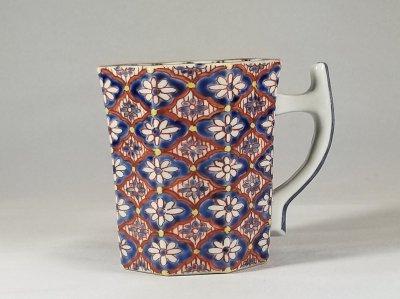 紺彩更紗 マグカップ