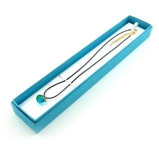 ギフトボックス ペンダント ケース プレゼント ラッピング ブルー ピンク【CCA0020】